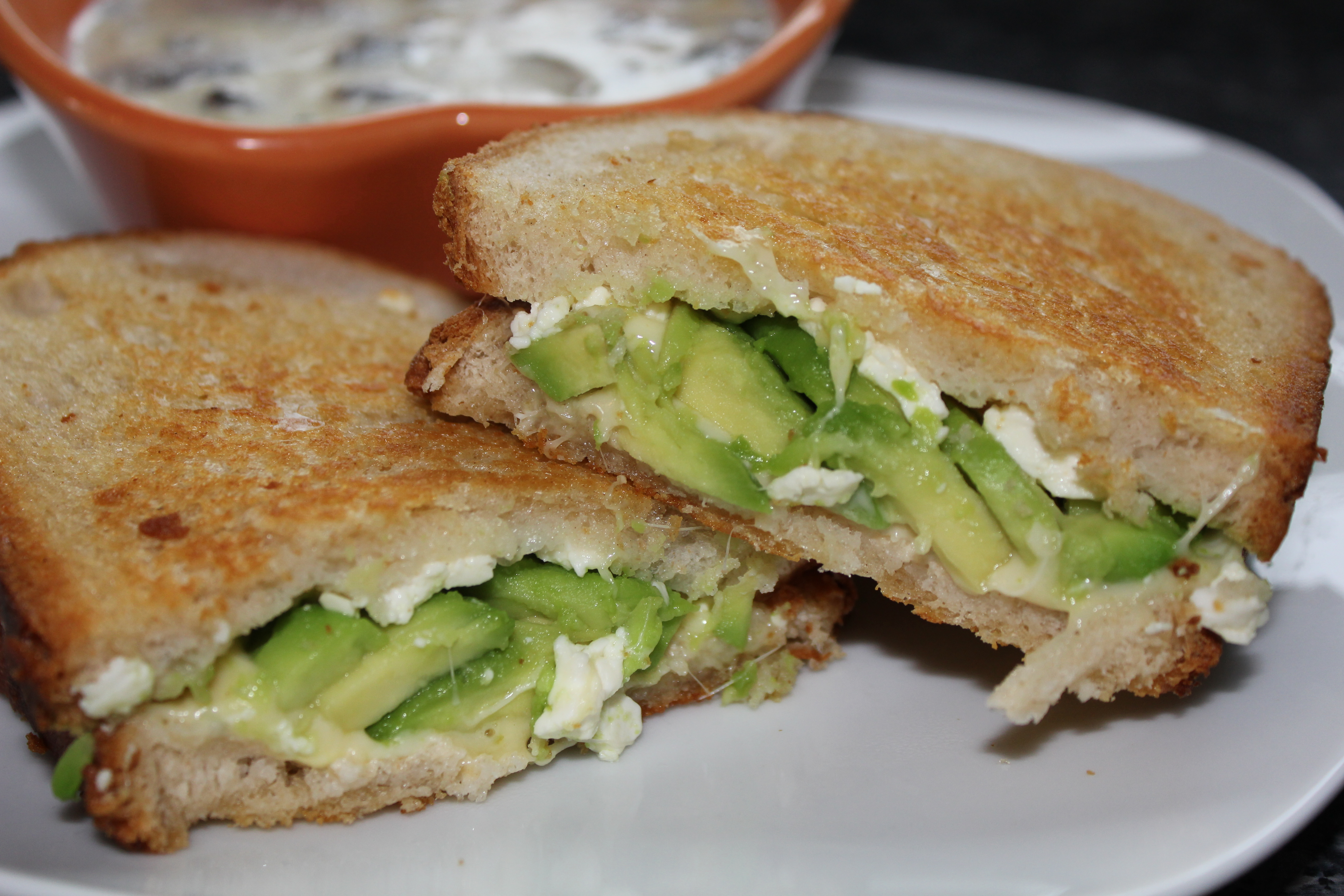 Avocado Feta Grilled Cheese | The Diary of Sugar and Spice