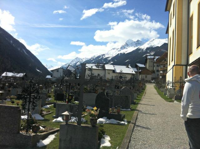 Outside the church in Austria