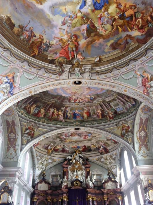 Inside the church in Austria